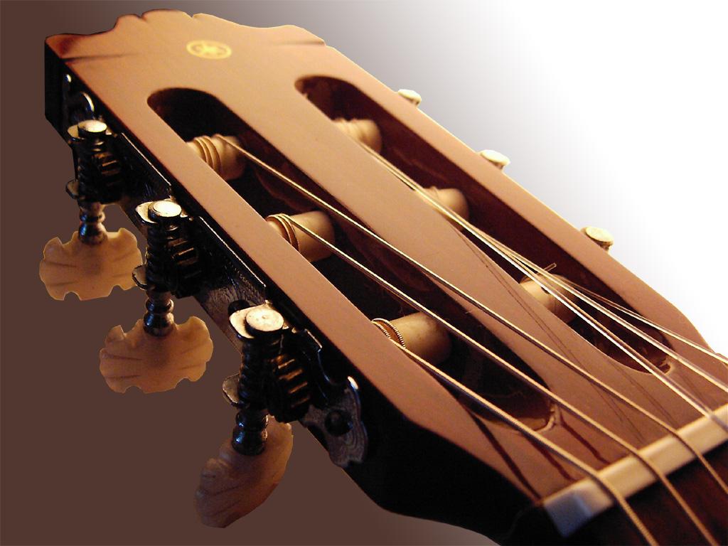 Guitar wallpaper, acoustic guitar headstock and tuners
